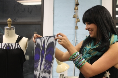 Interview with co-owner of Secret Ships, which sells handmade clothing from materials around the globe.